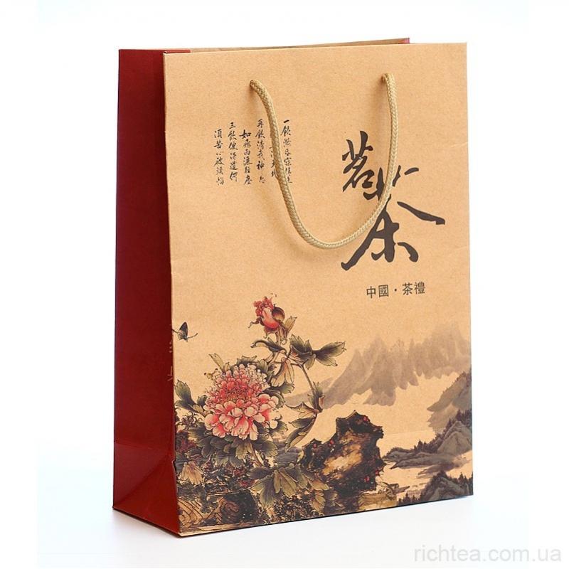 Подарочный пакет для чая 28*21 см