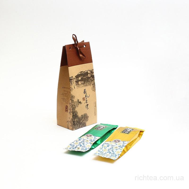 Подарочный набор чая Дяньхун и Лунцзин