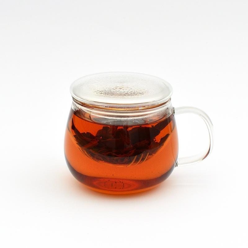 Стеклянная чашка заварник, 350 мл