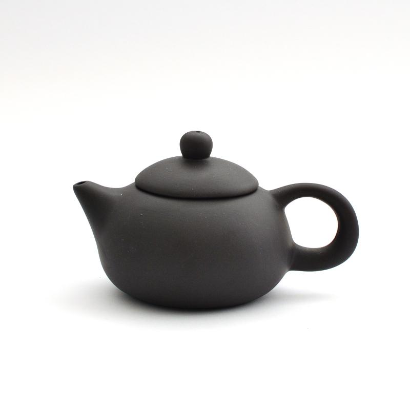Чайник из глины 130 мл Черный (Акция)